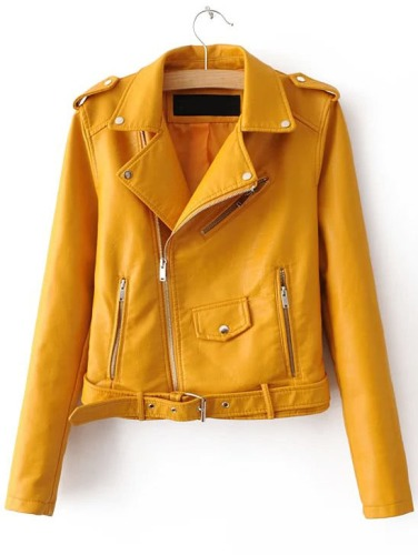 http://fr.romwe.com/Yellow-Faux-Leather-Belted-Moto-Jacket-With-Zipper-p-187773-cat-677.html?utm_source=fromkat.com&utm_medium=blogger&url_from=fromkat