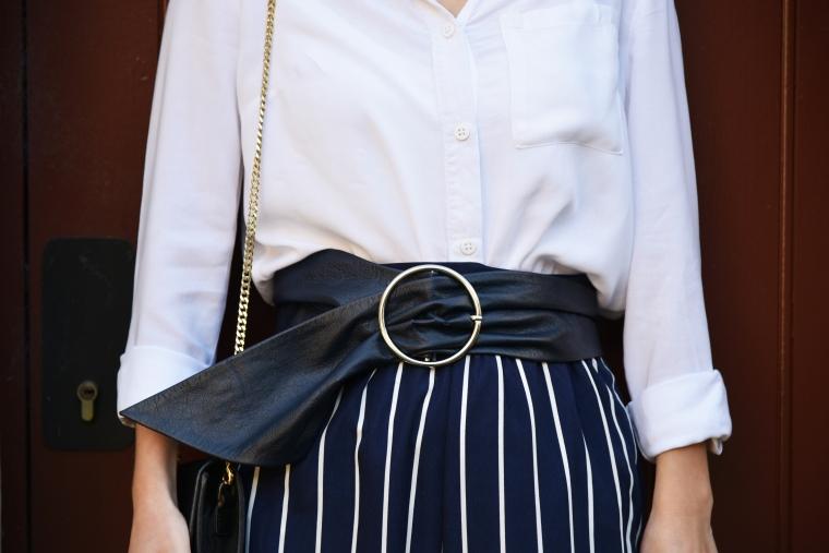 pantalon rayure bleu marine shein 003