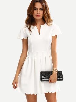 http://fr.romwe.com/White-V-Cut-Scalloped-A-Line-Dress-p-173874-cat-767.html?utm_source=fromkat.com&utm_medium=blogger&url_from=fromkat